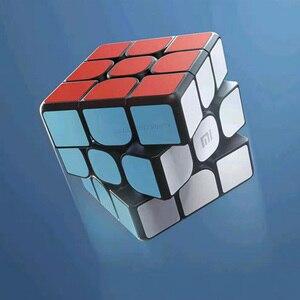 Image 2 - Xiao mi الذكية بلوتوث المكعب السحري بوابة الربط 3x3x3 mi مربع المغناطيسي أُحجية مكعبات العلوم تعليم التعليم لعبة هدية