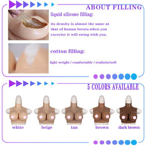 Image 5 - CDE Cup Full Silicone Tights Rubber Bodysuit Crossdress Male to Female Transsexual Cosply Transgender Fake Silicone Breast Form