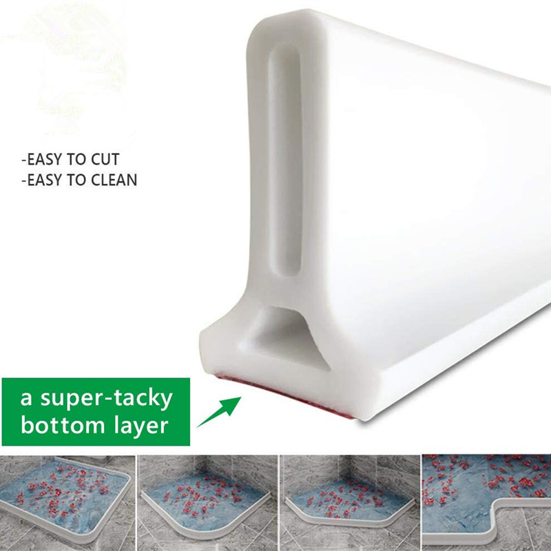 Bathroom Water Stopper Collapsible Shower Threshold  Dam Shower Barrier And Retention System And Keep Water Inside Threshold