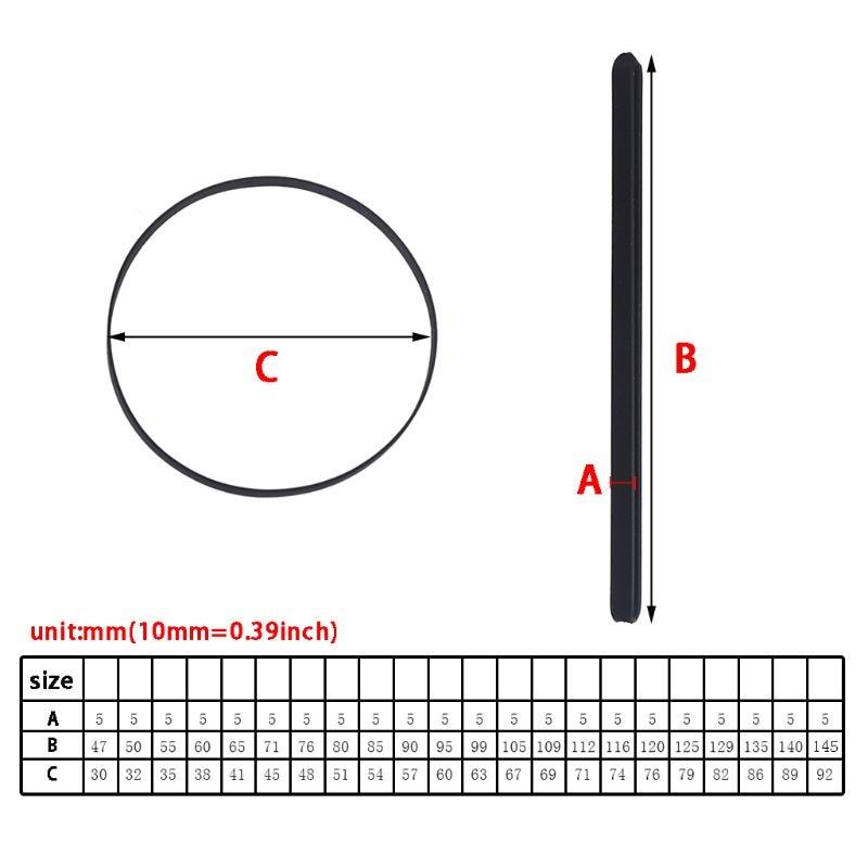 5 мм широкий проигрыватель с резиновой лентой Замена плоский приводной ремень для Виниловый проигрыватель Phono с ременным приводом вертушки