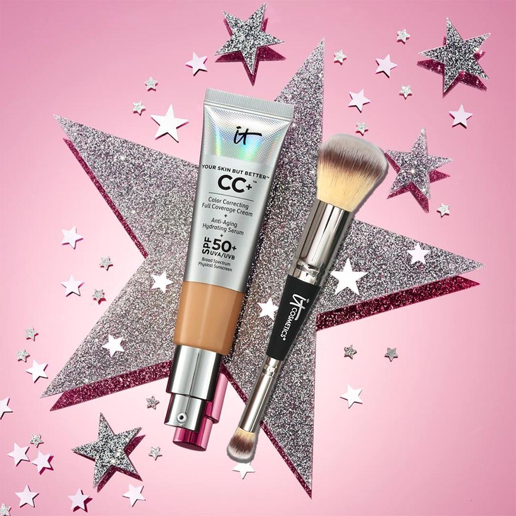 Es Vollständige abdeckung creme CC Sonnencreme Gesicht Concealer SPF 50 + Allover make-up pinsel No. 7