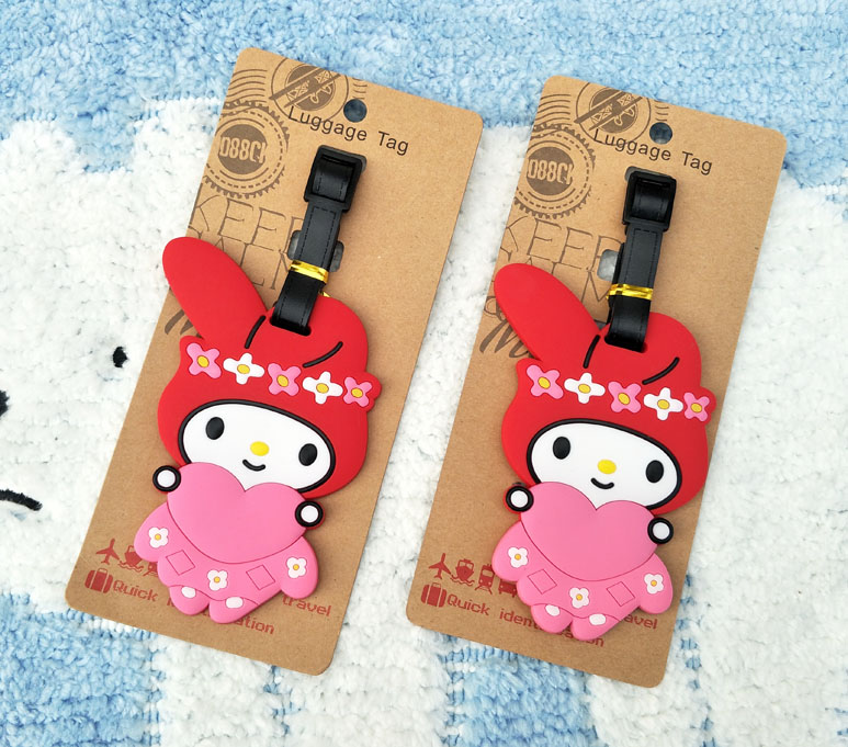 1pcs My Melody Anime Travel Brand Luggage Tag Suitcase ID Address Portable Tags Holder Baggage Label New