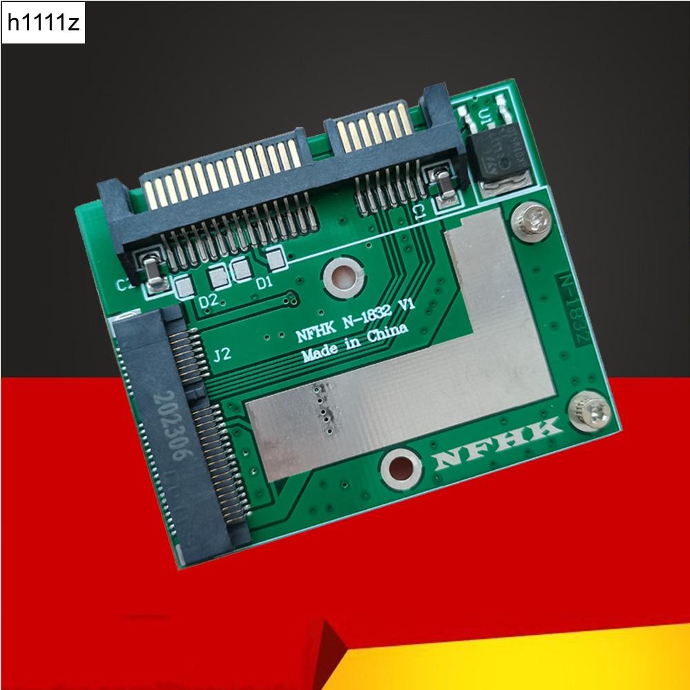 Module-Board Riser-Card Converter Adapter Msata Ssd PC Mini Pcie Laptop Sata-Iii