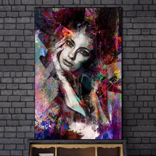 Modern Graffiti Art Girl Canvas Paintings on the Wall Posters And Prints Abstract Woman Pictures Home Decor Cuadros