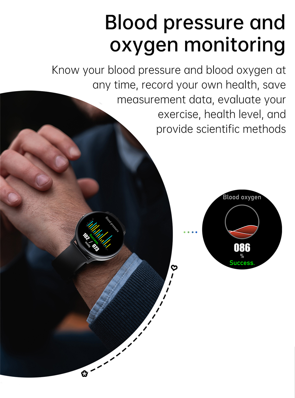 H5319374663644740b188e0440dc4c48fs 2021 Bluetooth Call watch Smart watch For men And women Full touch fitness tracker Blood pressure Smart clock ladies Smart watch