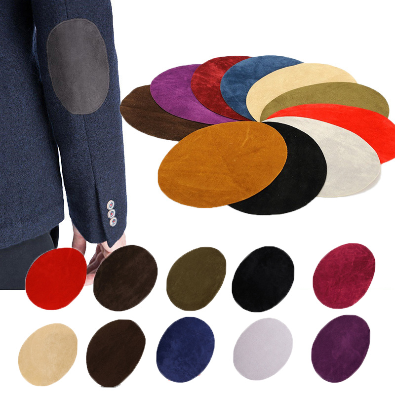 3 Pairs Oval Patches DIY Sew-on Elbow Patches for Clothes Decoration
