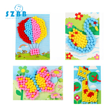 SZ STEAM Child Toy DIY Hairball Sticky Paper Painting Kindergarten Toy Material Package Children Toy Toys Girl Crafts SZ3613