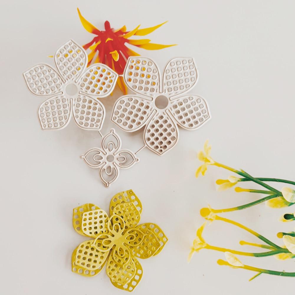 Flower Combination Cutting Die New Knife Die Metal Cutting Die Three-dimensional Fine Art Paper Jam DIY Decoration