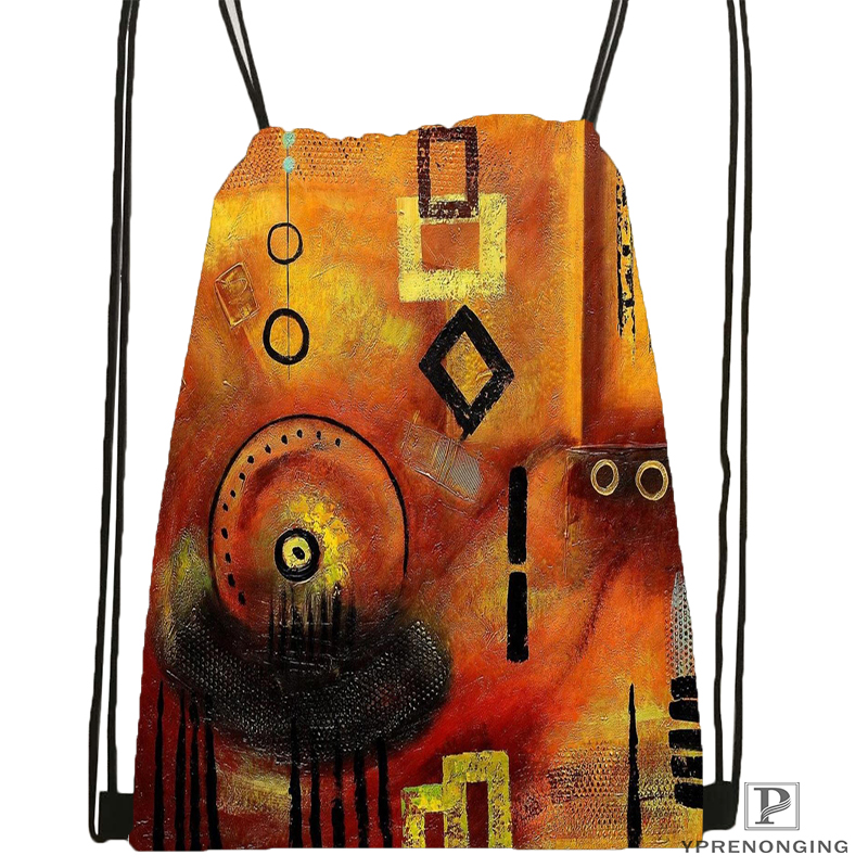 Custom African Art Designs Art Drawstring Backpack Bag Cute Daypack Kids Satchel (Black Back) 31x40cm#180531-03-31