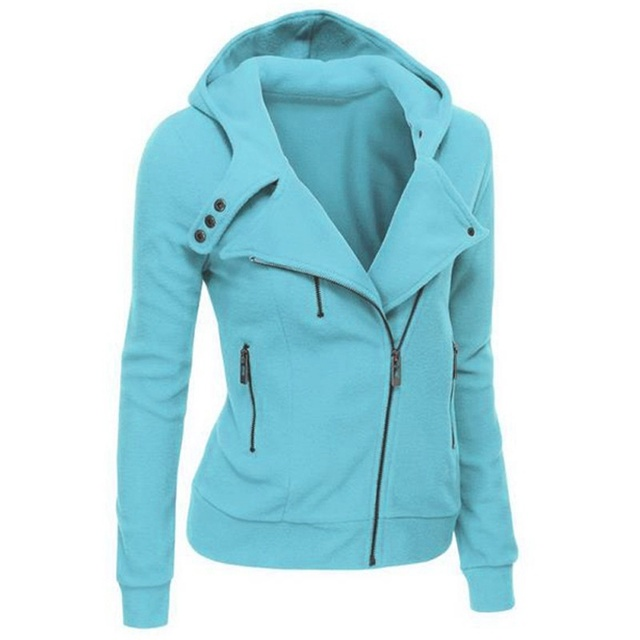 2020 Zipper Warm Fashion Hoodies Women Long Sleeve Hoodies Jackets Hoody Jumper Overcoat Outwear Female Sweatshirts 1
