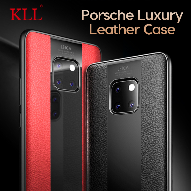Case Compatible Huawei P30 Porsche Design Clear View Flip Kickstand Mirror Cover for Huawei P30 PRO//P30 lite Porsche Design