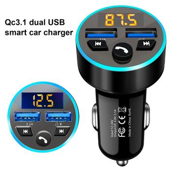 DC12V 24V Bluetooth MP3 Player QC3.1 Fast Charging Car Tablet Smartphone GPS Charger FM transmitter Power Supply Phone Socket image