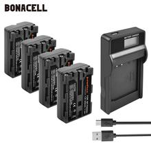 Bonacell 2400mAh NP-FM500H NP FM500H NPFM500H Camera Battery+LCD Charger For Sony A57 A58 A65 A77 A99 A550 A560 A580 Battery L50 2pc np fm500h np fm500h npfm500h battery lcd ultra fast dual charger for sony a57 a65 a77 a99 a350 a550 a580 a900 digital camera