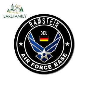 EARLFAMILY 13cm x 13cm for RAMSTEIN AIR FORCE BASE Logo Car Stickers and Decals Bumper ATV RV Car Door Protector Decoration(China)