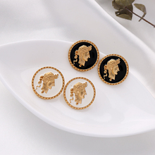 Women Earring Cheap Fashion Jewelry Acrylic Gold-Color Girls Wholesale New-Design Round