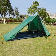 A Spitze Ultraleicht Zelt 1 2 Person für Camping Wandern Rucksack Poleless Wasserdichte Solo Bivvy 20D Silikon Kein Pole Zelt