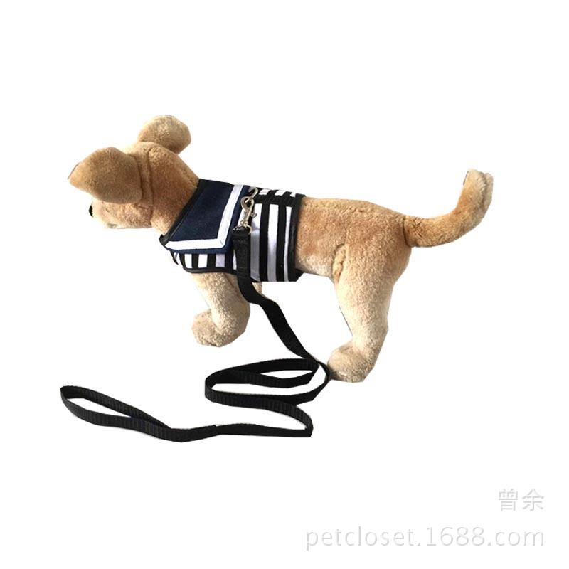 Manufacturers Dog Chest And Back Delivery Hand Holding Rope Pet Supplies Stripes Sailor Vest