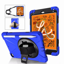 Tablet Case For iPad Mini 5 Cover Fashion Heavy Duty Shockproof Protective Skin Build in Kickstand Sleeve with Shoulder Strap for ipad air 1 pirate tablet case cover kids safe shockproof heavy duty silicone pc kickstand case with wrist shoulder strap