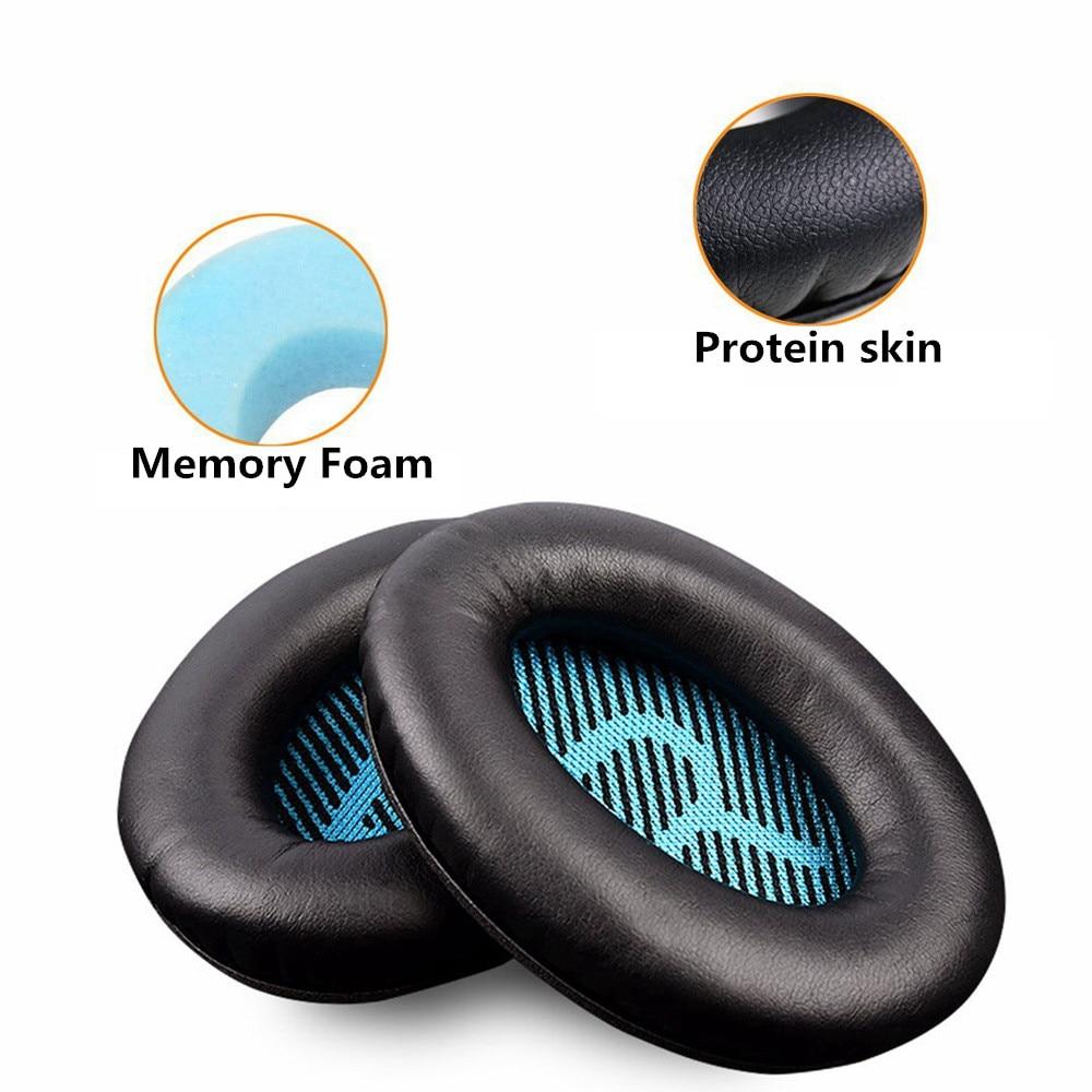 Сменные амбушюры из Протеиновой кожи с пеной памяти для Bose quietкомфортных наушников 2 QC25 AE2 QC2 QC15 AE2I|Аксессуары для наушников|   | АлиЭкспресс