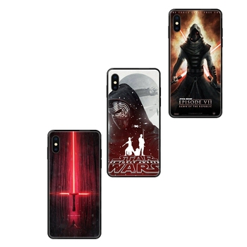 For Boys Episode Vii Force Awakens Black Soft TPU Ultra Thin Cartoon Pattern For iPhone 11 12 Pro Max Plus Pro X XS image