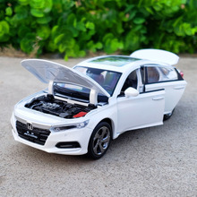1:32 Scale Cast Metal Alloy Car Model Sedan For New HONDA Accord 10 Gen Collection Model Pull Back Sound and Light Vehicle Toys new arrival gift pnmr 1 18 large metal model car sport drive model scale alloy collection vehicle toys car pro fans show