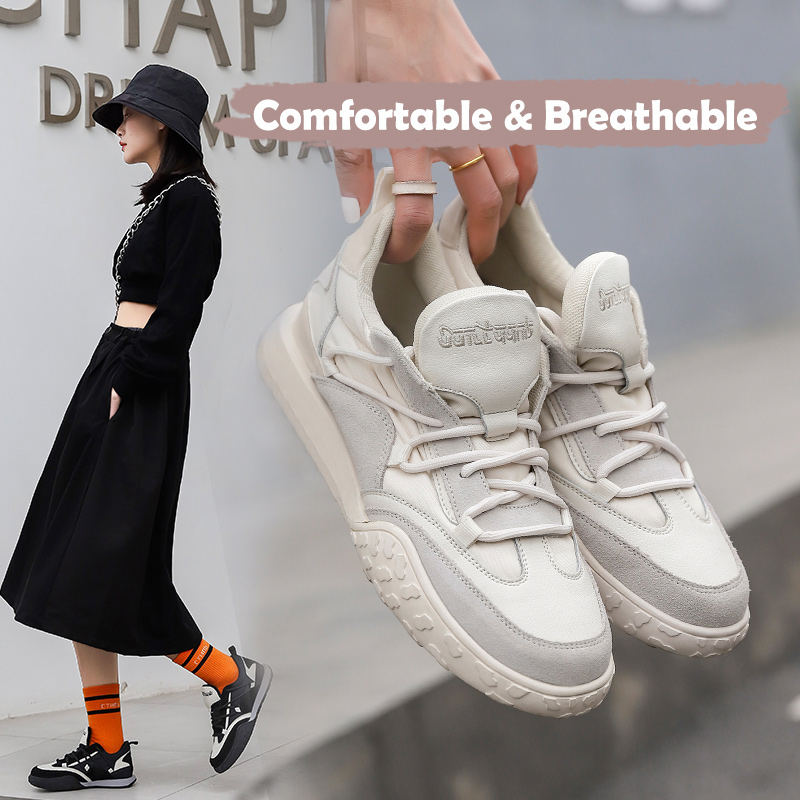 Designer Casual Shoes Women Trend Sneakers Fashion 2021 Spring Outdoor Walking Sport Shoes Lace Up Comfort Breathable Flats New|Women's Flats| - AliExpress