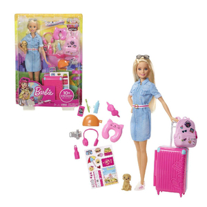 Barbie Doll and Travel Set wit