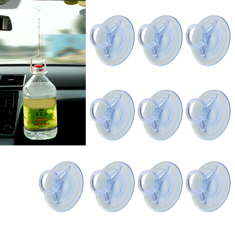 45mm 10 PCS Rubber Clear Suction Cup Sucker PVC Suction Cup Hook Suction Cup Car Sunshade Suction Cup