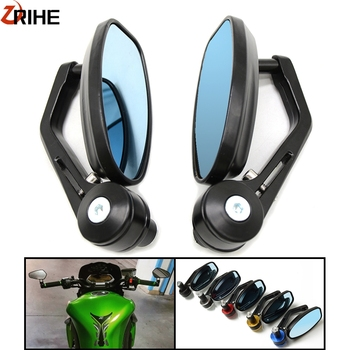 7/822MM Motorcycle Mirror CNC Aluninum Handlebar Rearview Side Mirrors For Kawasaki Z125 pro Z650 Z750 Z800 Z900 Z1000 ER6N ER6 universal aluminum cnc motorcycle side mirror rearview accessories fits for kawasaki ninja zx6r zx9r zx12r z800 z1000 z750 z250