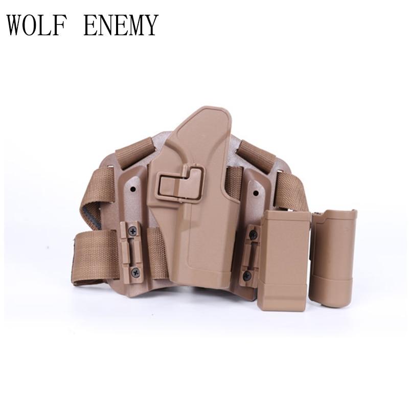 Étui tactique pour cuisse droite avec poche torche Glock 17 19 22 23 31 32 - 3