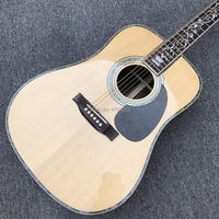 IN STOCK Acoustic Guitar, Solid spruce top Ebony fingerboard ,OEM Factory Custom 41 Real Abalone acoustic Guitar ,Free shipping