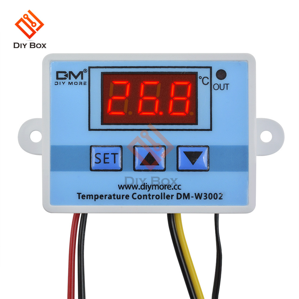 W3002 XH-W3002 цифровой светодиодный контроллер температуры DC 12V 24V AC 110 V-220 V 10A переключатель управления термостатом с датчиком зонда