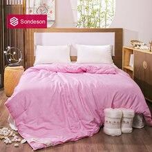 Sondeson женское одеяло из 100% шелка розовое шелковое наполнитель