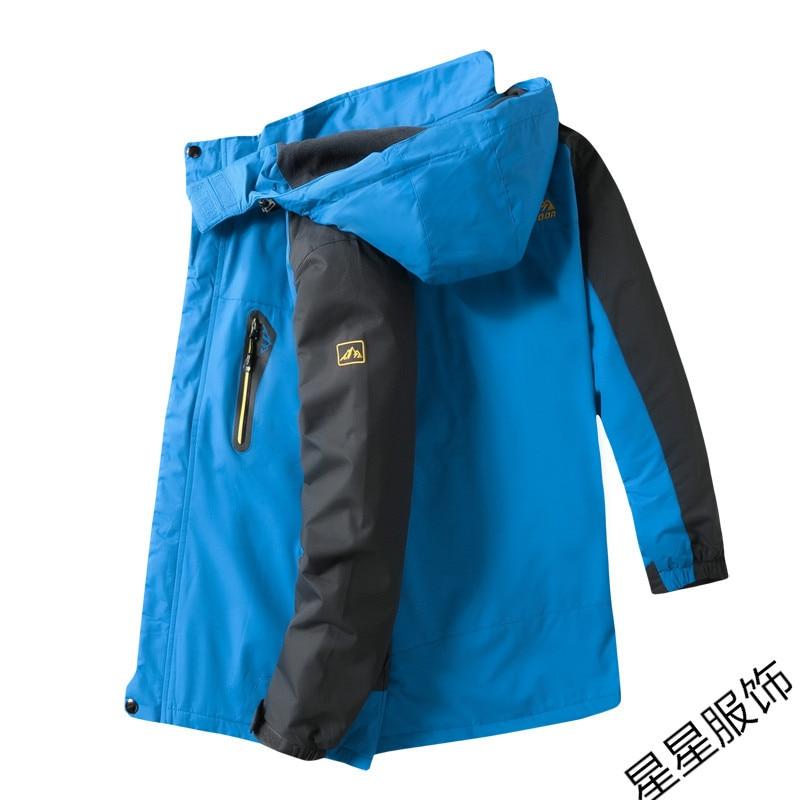 10xl 8xl Куртки мужские осень Утепленная Мужская s теплая куртка ветрозащитное пальто с капюшоном на молнии куртки мужские худи - 6