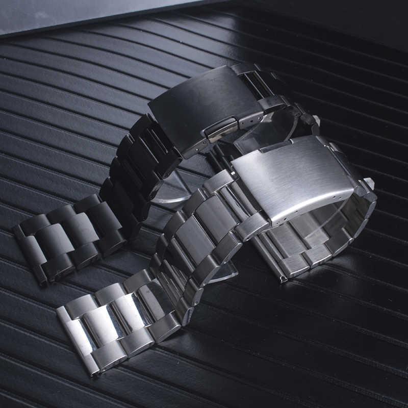 Qualità cinturino Solido acciaio inossidabile cinturino Per Diesel Per Gli Uomini DZ4343 DZ7305 24 millimetri 26 millimetri 28 millimetri Nero bracciale in acciaio