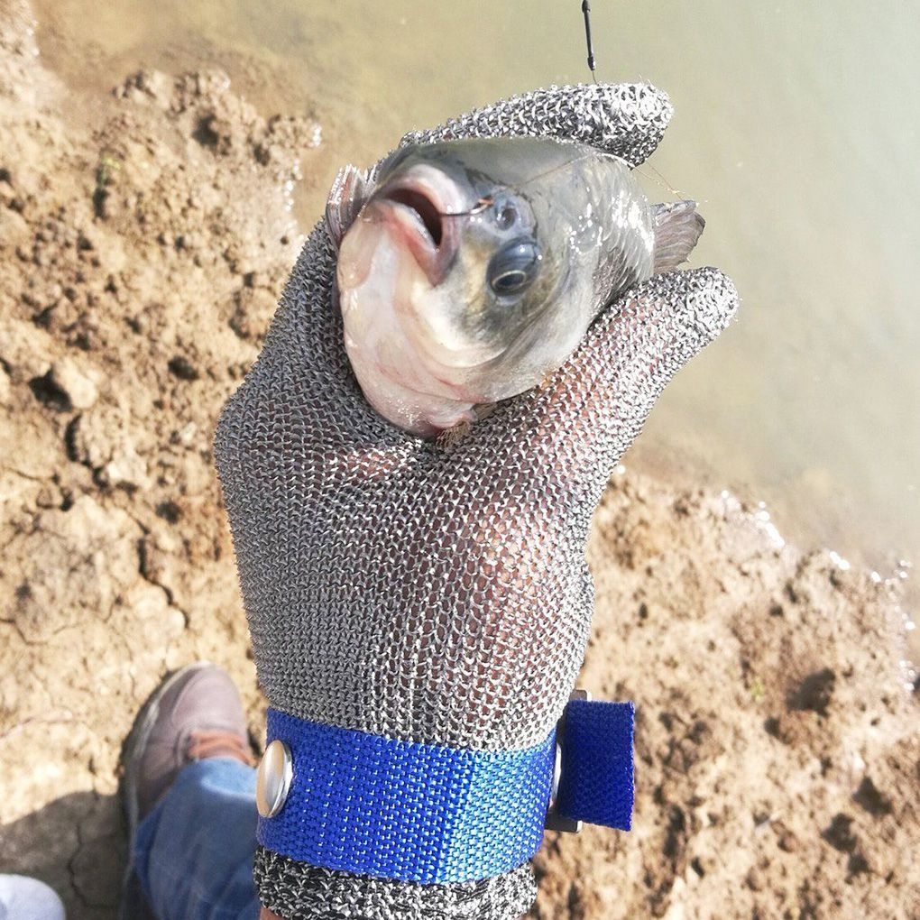 High quality Anti-cut Gloves Safety Cut Proof Stab Resistant Stainless Steel Mesh Butcher Protect Kitchen Fishing Gloves