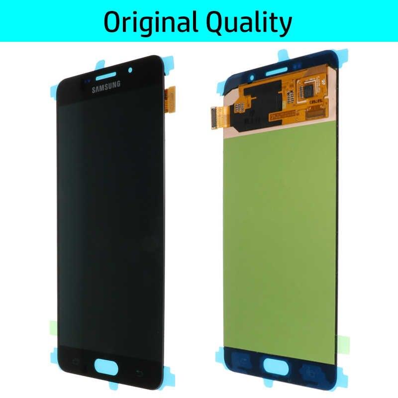 Оригинальный 5,5 ''Супер AMOLED ЖК-дисплей для SAMSUNG Galaxy A7 2016 ЖК-дисплей A7100 A710F A710 ЖК-сенсорный экран дигитайзер Замена