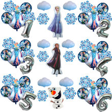 Elsa e anna olaf disney congelado princesa folha balões chuveiro do bebê menina boneco de neve festa de aniversário decorações crianças brinquedos globos de ar