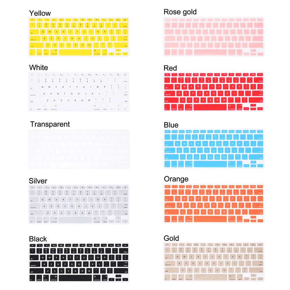 """Colorful Soft Silicone Keyboard Cover Sticker Film Protector For Apple Macbook Pro Air 13"""" 15"""" 17"""" Computer Accessories-5"""