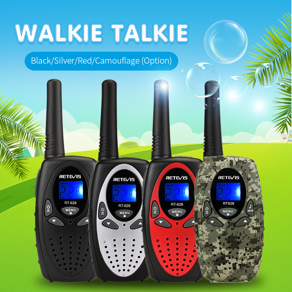 Retevis RT628  Walkie Talkie 4pcs PMR446 0.5W VOX Call Tone  Portable Radio For Hunting Christmas New Year  Gift Walk Talk