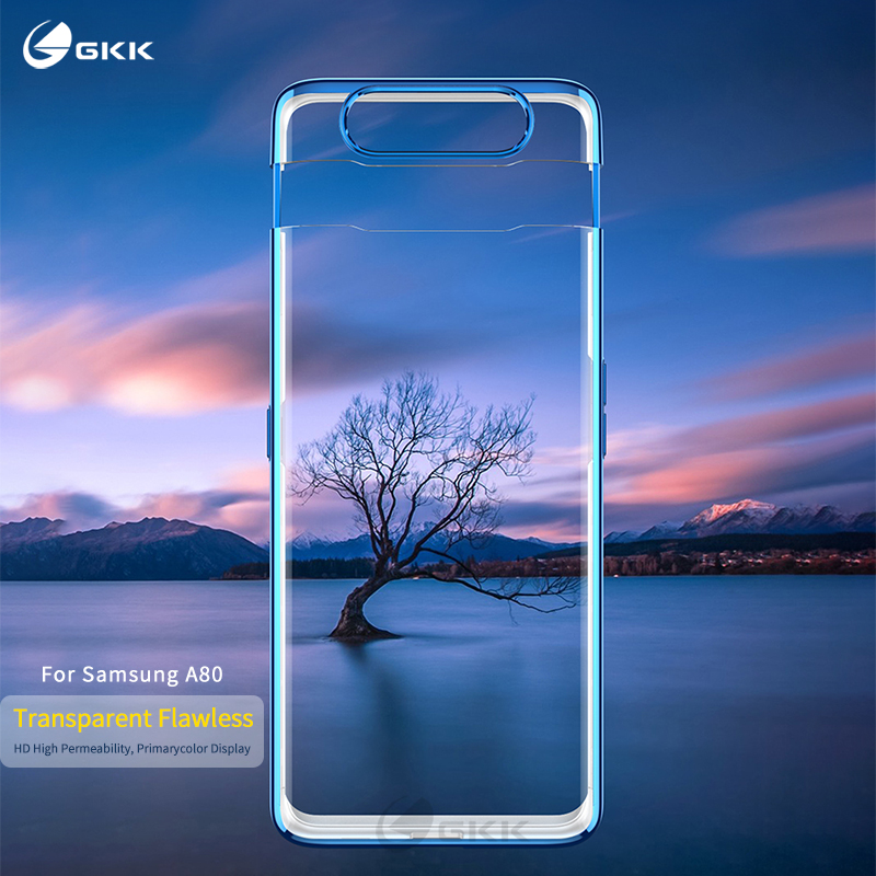 GKK lujosa funda transparente enchapada para Samsung Galaxy A80 funda 360 protección completa Funda perfecta para Samsung A80 funda