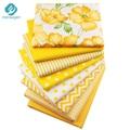 8 цветов/лот Желтая серия хлопчатобумажных тканей набивные швейные ткани стеганые ткани для лоскутного рукоделия DIY кукольная ткань матери...