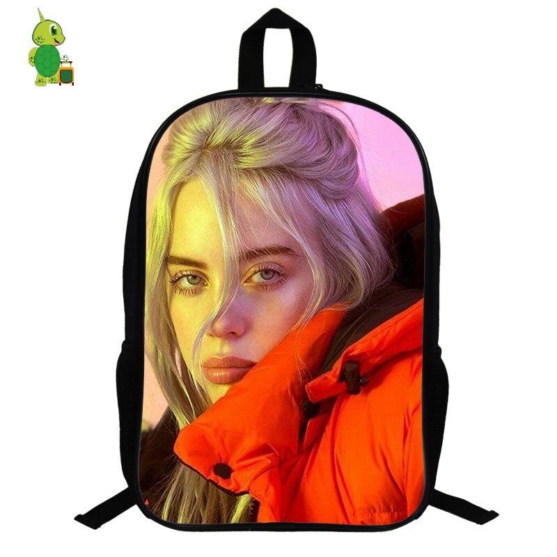 Billie Eilish Backpack Hip Hop School Bags For Teenage Boy Girl 14.5 Inch Women Backpack Laptop Backpack Travel Shoulder Bag