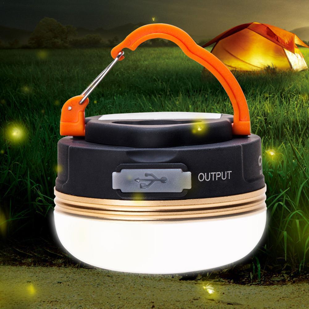 1 pçs portátil luzes de acampamento 3w led lanterna usb noite i2n6 lâmpada tendas caminhadas ao ar livre pendurado recarregável k6t6