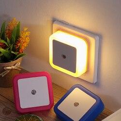1PC de 110V-220V LED de luz de la noche de la UE nos enchufe Mini novedad Control Sensor de luz de estudiante niños sala de luz en el dormitorio.