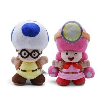 Peluches Super Mario champignon capitaine Toad Toadette