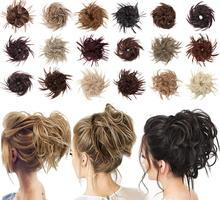 Chignon Hairpiece Synthetic Tousled Messy Bun Hair Elastic Band Updo Chignon Hair Hairpiece For Women