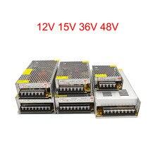 Ac dc fonte de alimentação 12 v 1a 2a 3a 5a 10a 20a 30a transformador de iluminação 220v a 12 volts 15 volts 36 volts 48 v volt led strip cctv laboratório
