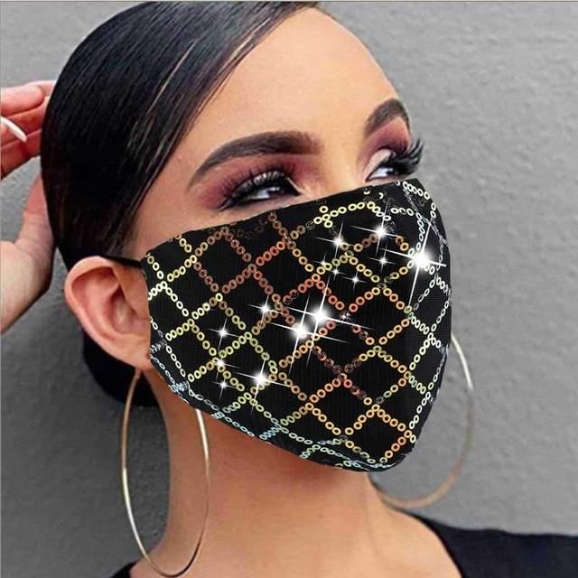 Fashion mask face decoration