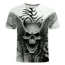 2019 New design t-shirt for men / women, heavy metal, makeup, reaper, Skull 3D print t-shirts casual Harajuku style, streetwear